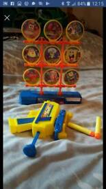 Spongebob squarepants shooter gun game -shoot targets or play on own like nerf