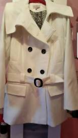 Brand new cream coat by be beau