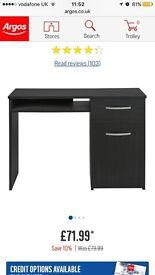 Home Hayward office desk - Black