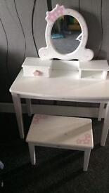 Girls dressing table with stool