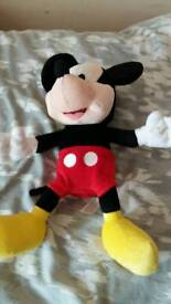 """Disney talking 12"""" Mickey mouse supersoft cuddly toy"""