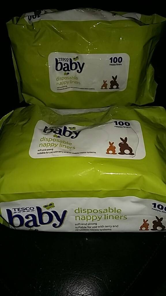 Two packs of Baby disposable nappy liners