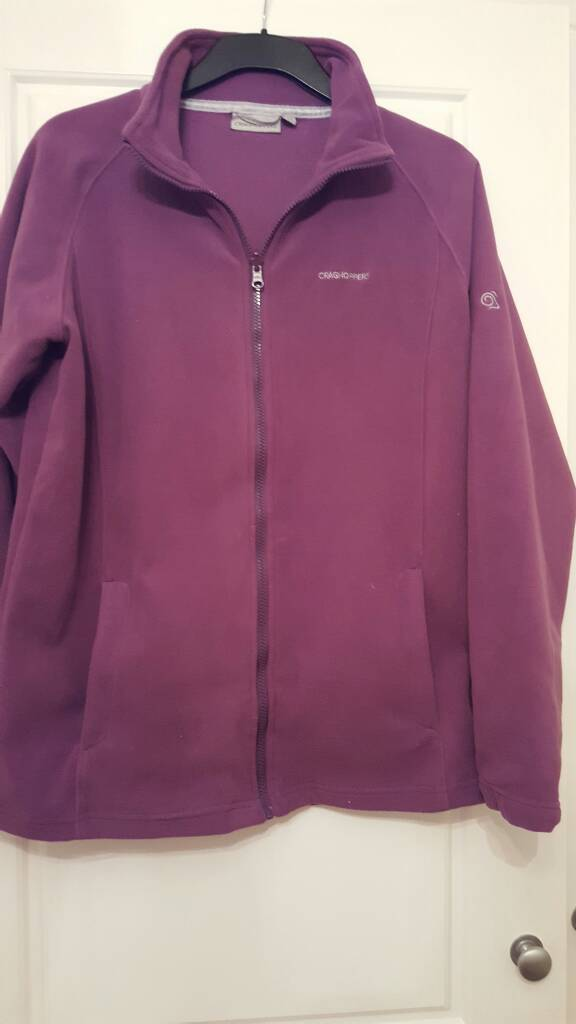 Craghoppers mauve fleece size 16