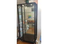 Black & Glass Display Cabinet - Excellent condition