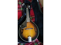 ASHBURY AM10 LEFT HANDED MANDOLIN (as new with hard case & tuner) re sale due to mix up.