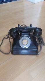 Vintage Bakelite Telephone GPO N0 164