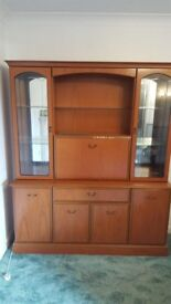 Wall unit/cocktail cabinet with glass shelves FREE