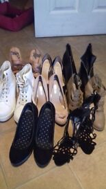 Boots and shoes 8 pair size 5 and 6