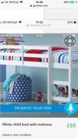 Children's cabin bed with matress