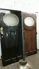 Old victorian solid doors