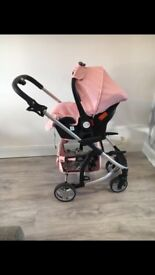 My Babiie Pink 3in1 Travel System