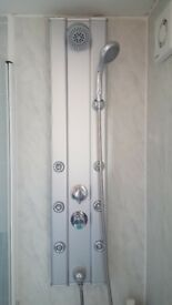 Premier - Thermostatic Shower Panel with Fixed Shower Head, 6 Body Jets & Shower Kit