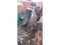 Large used Rubbermaid wheelbarrow/wheeling Skip
