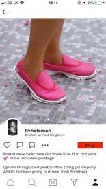 Pink Skechers Go Walk Size 8