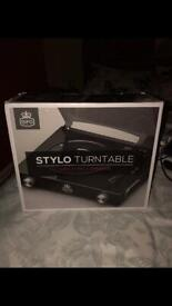 Stylo turntable record player new