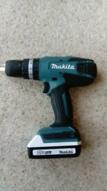 Makita Cordless Drill, Hammer, Driver. 18V Li-ion. 2 batteries and charger. No offers.