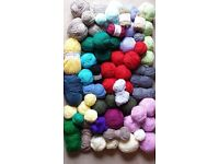 Large amount of mixed wool & yard - approx 4kg in total (A)