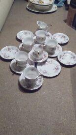 Victoriana rose tea set