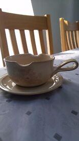 Denby Sandlewood gravy boat and saucer