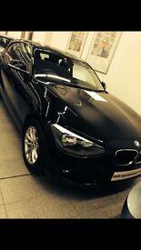 Black BMW 1 series 116i sport hatchback 3 door