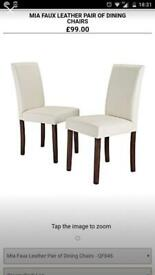 Brand new in boxes 6 dining chairs