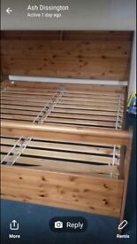 Super king size wooden bed excellent quality