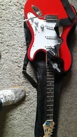 electric guitar with practice amp everything to get started