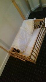 Baby cots/basket/walker/bouncer chair/car set