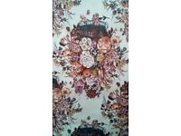 Fabric - floral pattern, new bolt - more than 2m length, approx 120cm wide (263778935876)