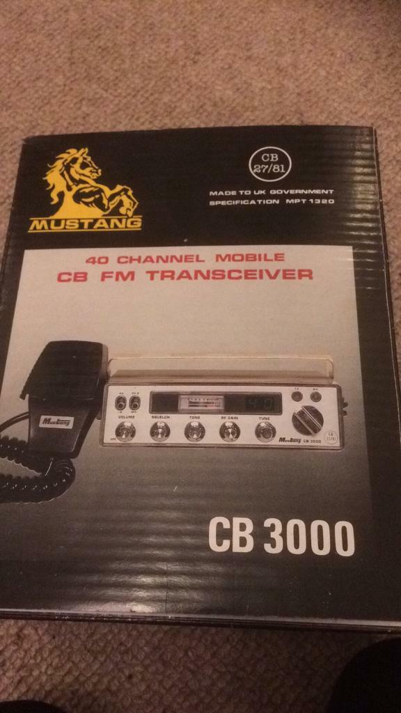 40 channel mobile CB FM transceiver