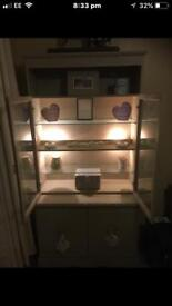 Display unit/ dresser & side table with new Annie Sloan paint tin