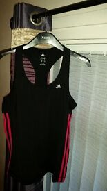 Ladies adidas vest top (12-14)