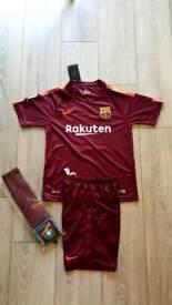 2018 Barcelona Messi foorball kit nike tshirt shorts