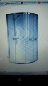 Quadrant glass shower enclosure