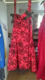 Hearts & Roses Designer Rockabilly Halterneck Dress