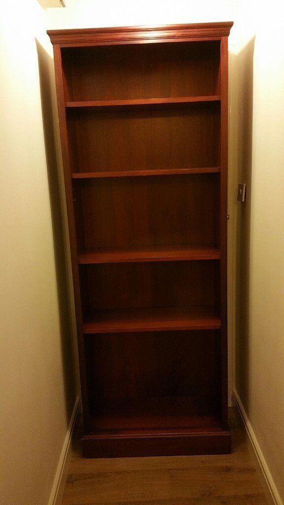 Dark Brown Mahogany Bookshelf