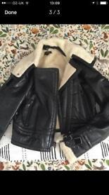 Leather women's jacket