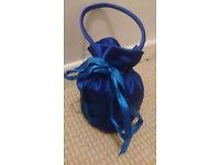 Blue Bridesmaid Flower Girl Dolly Bag