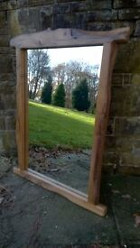 HANDMADE LARGE RUSTIC ENGLISH OAK MIRROR