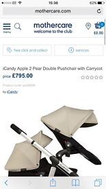 Icandy apple to pear double