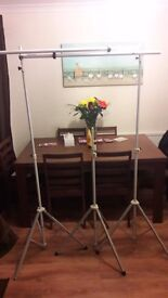 2 Telescopic Photax N03 Backdrop Stands + 1 other for the Flash