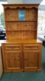 Stunning large Pine Kitchen wall unit, selling for Strathcarron Hospice