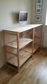 Wooden shelf storage IKEA Ivar pine