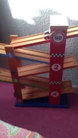 Wooden Car Ramp Toy