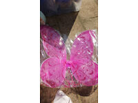 2 x Fuschia pink children's fairy wings, never used