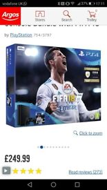 PlayStation four with one controller and fifa 18