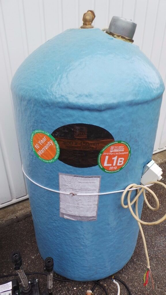 HOT WATER CYLINDER - Telford Copper Cylinder 900 x 450mm Indirect ...