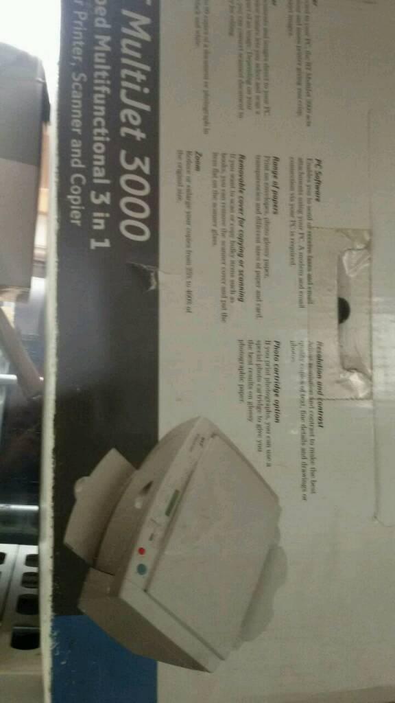 BT multi jet 3000 scanner ,coper and printer.