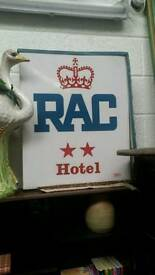 RAC hotel sign