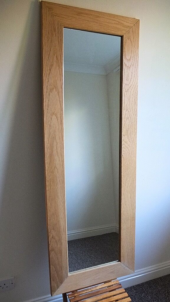 LARGE WOODEN SOLID PINE MIRROR